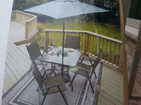 NEW IN BOX 6 piece patio set COLOR BROWN
