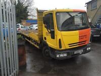 2005 Iveco Scaffolding Lorry 7.5 tonne, lez exhaust, starts and drives, very low mileage of 90,000,