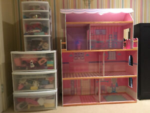 Barbie House with Furniture and Accessories