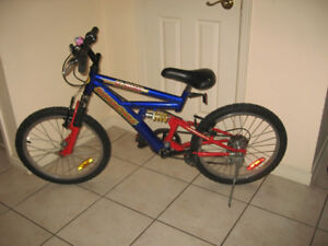 20 inch Supercycle Dual Suspension 5 speed Kids Mountain Bike