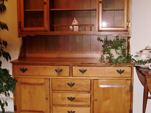 "Huge Vilas Maple ""Honey"" Hutch and Buffet  c.1960 Exc Condition"