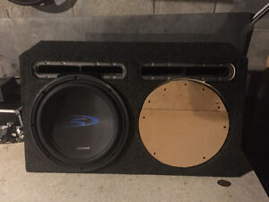"""12"""" alpine type S subwoofer and ported box"""