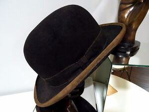 early BOWLER DERBY gent's hat BOND Calhoun's Stores STEAMPUNK Kitchener / Waterloo Kitchener Area image 2