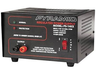 New Pyramid Ps14kx Ps-14kx 12 Amp 13.8v Constant Regulated Acdc Power Supply