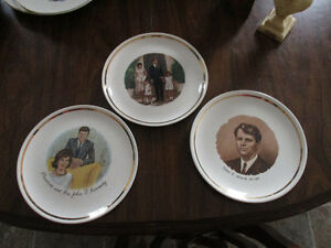 President John F Kennedy and Family plate