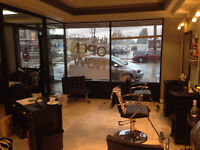 SPACE FOR RENT in busy salon located downtown for your services!