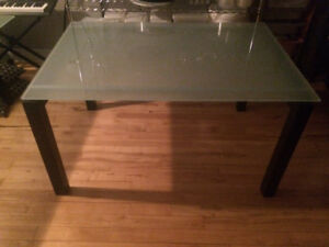 Beautiful, Solid Glass Top Table