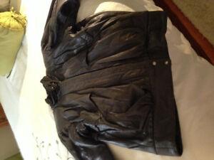 Manteau cuir souple