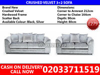 Crushed Velvet 3+2 Sofa--Best Quality