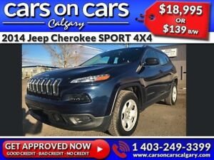 2014 Jeep Cherokee SPORT 4X4 V6 w/Heated Seats, Terrain Select,
