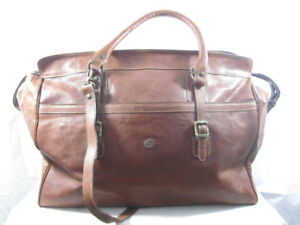 LARELLA Firenze genuine pebble leather duffle/gym travel bag
