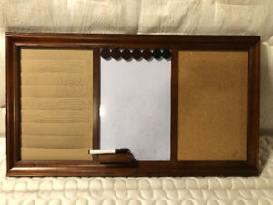 Home Office Whiteboard, Corkboard, Organizer Board