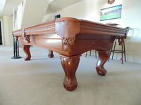 8' Pathmark Pool Table - Red Oak Ball-in-Claw