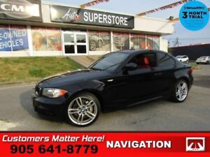 2011 BMW 1 Series 135i  M-SPORT 3.0L-TURBO MANUAL NAV ROOF RED-L