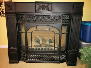 "Napoleon 36"" Gas fireplace with Cast Iron surround and Bay front"
