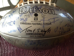 Autographed Saskatchewan Roughrider Football