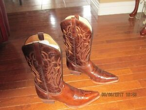 Brand New Frontier Cowhide brown Leather Cowboy boots