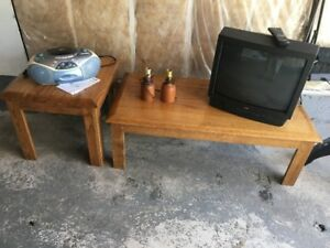 Solid Oak Coffee and End Table