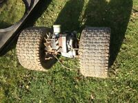 Riding lawnmower hydra stat rear diff complete with wheels