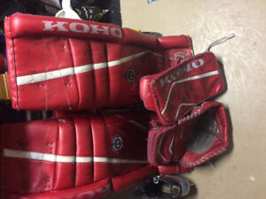 Various goalie gear