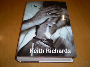 KEITH RICHARDS HARD COVER BOOK
