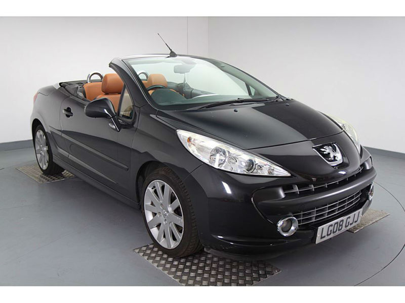 2008 peugeot 207 cc 1.6 thp 150 coupe gt black full leather 70000