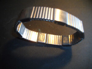 VINTAGE  CLASSIC MEN'S STAINLESS STEEL EXPANDABLE  WRIST BAND