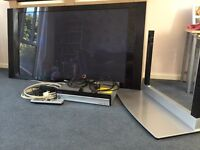 50' Pioneer flat screen TV with surround sound and stand