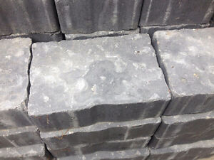Charcoal Grey Interlock Paver Stones