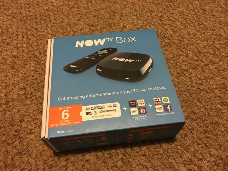 Black NOWTV BOX