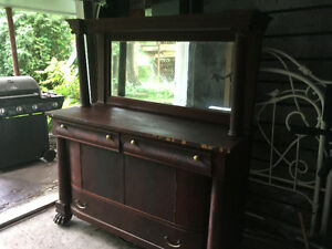 Free Antique Hutch with original mirror