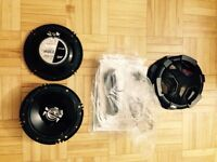 Two JVC 230W CS-V627 two way coaxial speakers