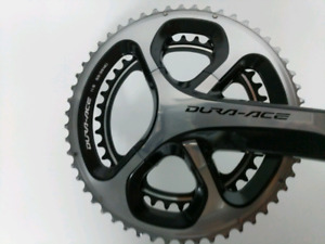 New unused DuraAce 9000	length 177.5 	rings 53-39, right only