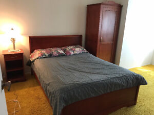 Vintage Bed frame and Armoire for sale together, or separate
