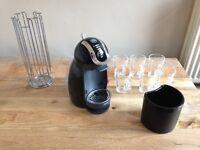 Delonghi Nescafé Dolce Gusto Genio, Coffee Pod Holder, and 6 Coffee Glasses