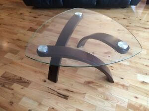 Moving Sale!! Glass coffee table with 2 side tables $350 obo
