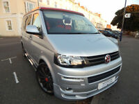 Volkswagen T5 Pop Top Camper Van Aurora Conversion 4 Berth 5 Seatbelts