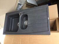 Black composite sink