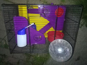 Rodent cage and travelling buggy, ALL INCLUDED.