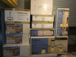 Several BRAND NEW Ceiling home Lighting fixtures Chandeliers Etc