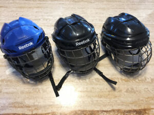 3Hockey Helmetswith Cages, Great Brands, Size Small