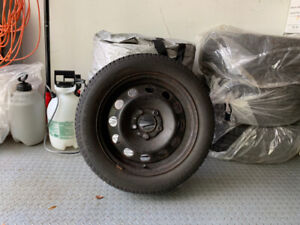 Tire and rim set for BMW 1 Series