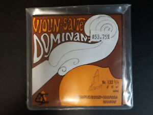 Violin Strings for 3/4 size violin New Set of 4 Dominant