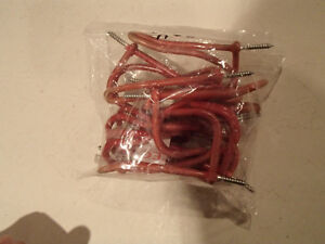 12 pcs of Vynil coated Coat / Hanging Hooks in Red. Sarnia Sarnia Area image 1