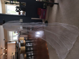 Subtle and Classy Sheer Wedding Veil!