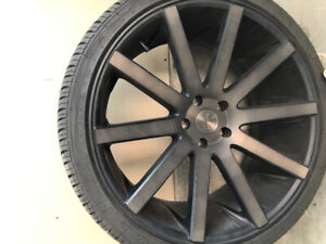 Dub rims with tires