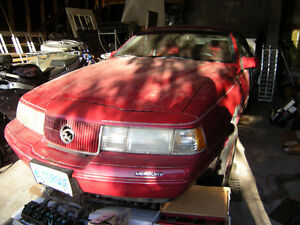 '89 Mercury Cougar XR7 Project Car. No Engine, Many New Parts
