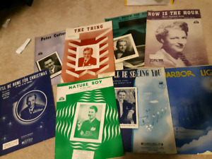 Very old music book sheets
