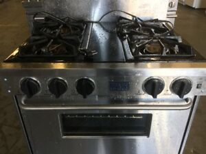 "Stainless Steel 30"" Jenn-Air Gas Stove"