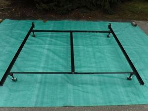 King adjustable bed frame with center support will hold split or